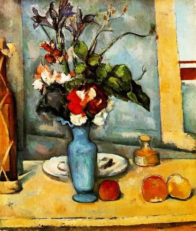 Blue Vase 1885 By Paul Cezanne