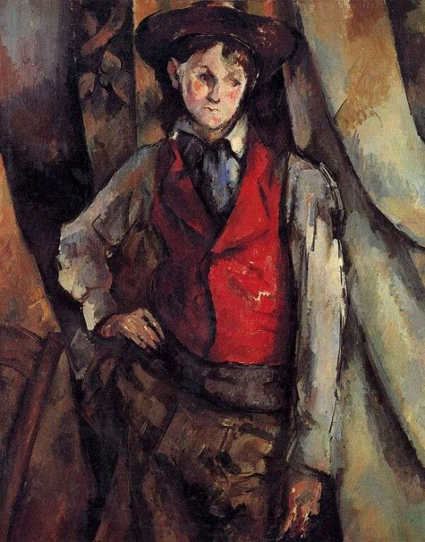 Boy in a Red Vest, 1895 by Paul Cezanne