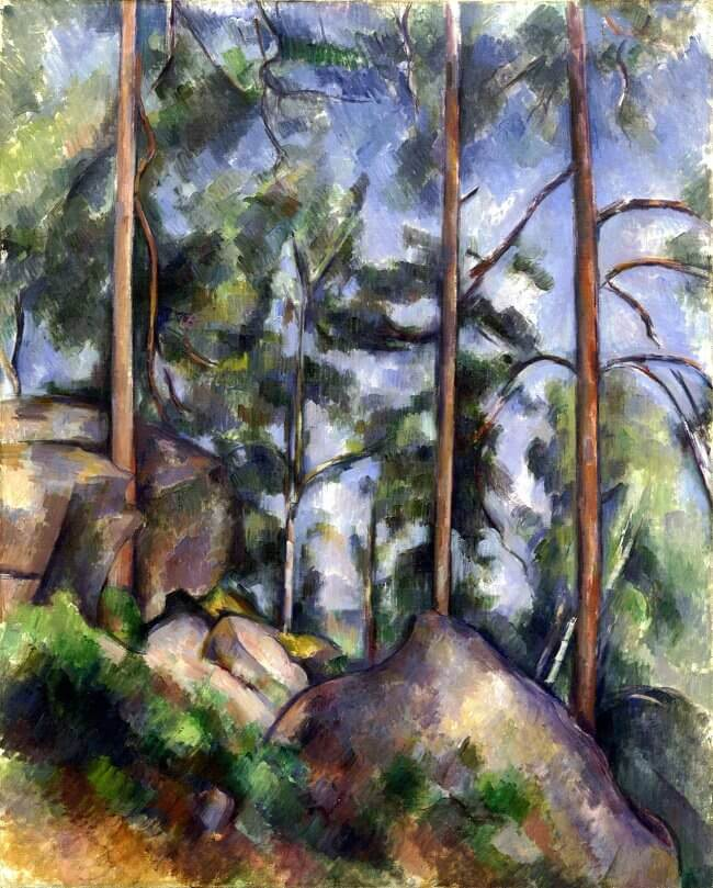 Pines and Rocks, 1897 - by Paul Cezanne