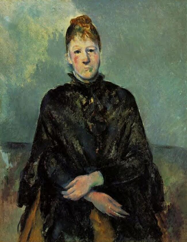 Portrait of Madame Cezanne, 1885 by Paul Cezanne