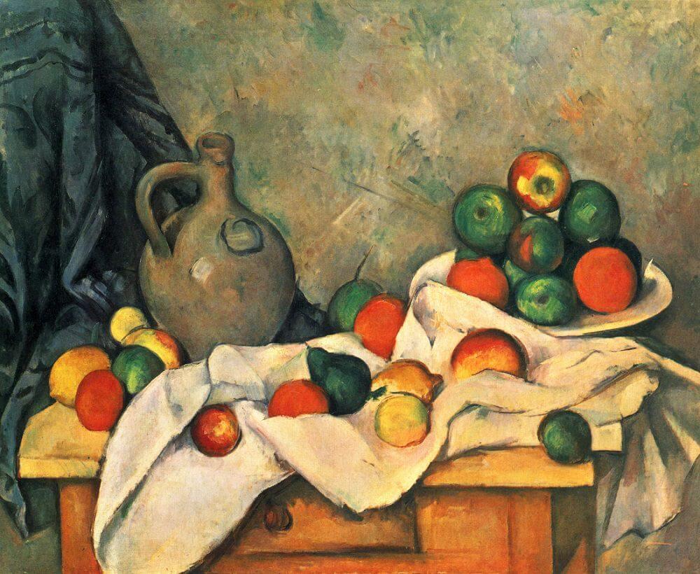 Rideau, Cruchon et Compotier, 1893 by Paul Cezanne