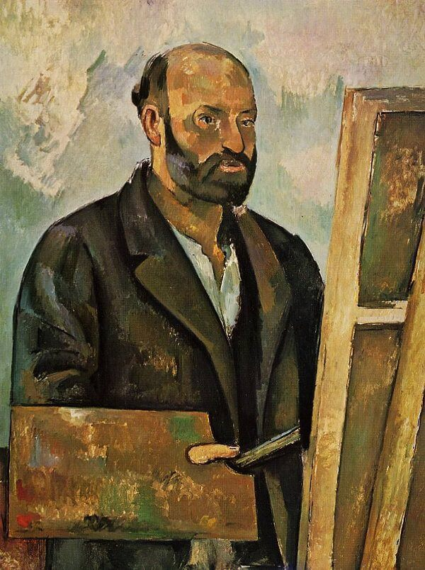 Self Portrait with Palette, 1885 by Paul Cezanne