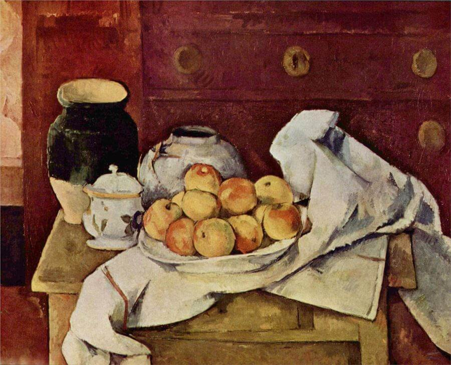 Still Life with a Chest of Drawers, 1887 - by Paul Cezanne