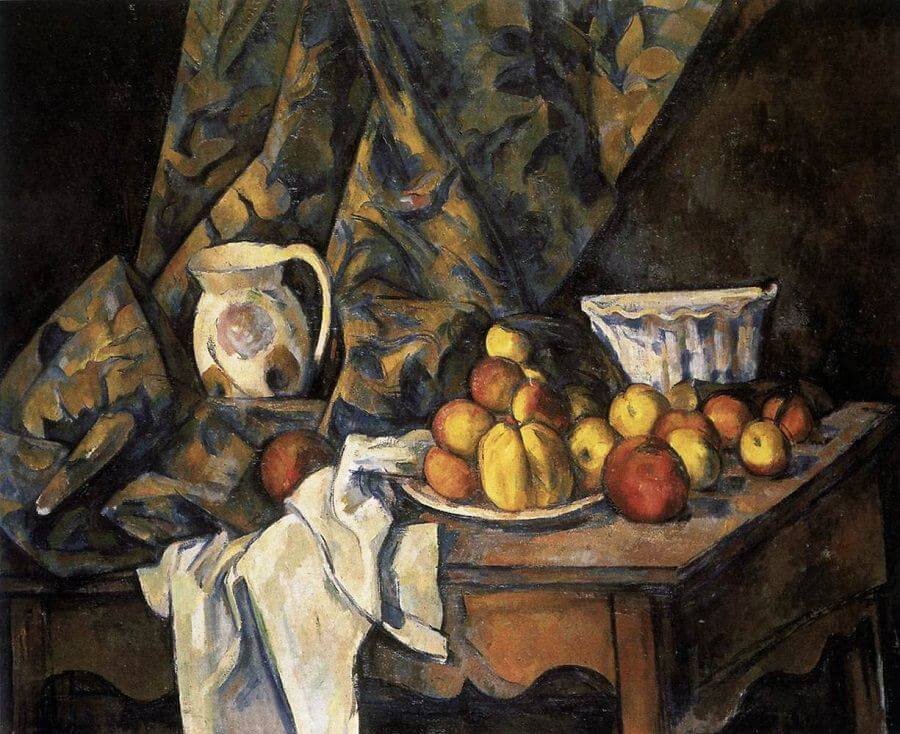 Still Life with Apples and Peaches, 1805 - by Paul Cezanne