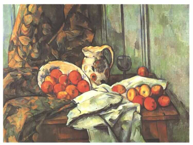 Still life with jug - by Paul Cezanne
