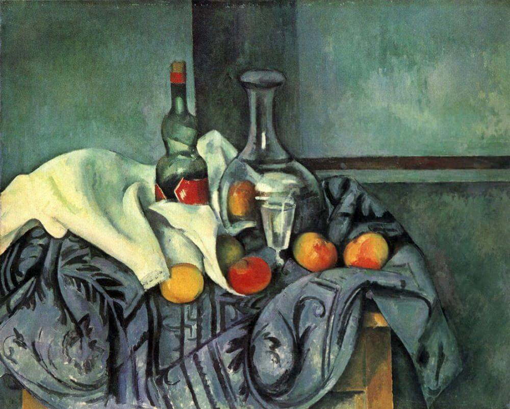 Still Life with Peppermint Bottle, 1890-94 by Paul Cezanne