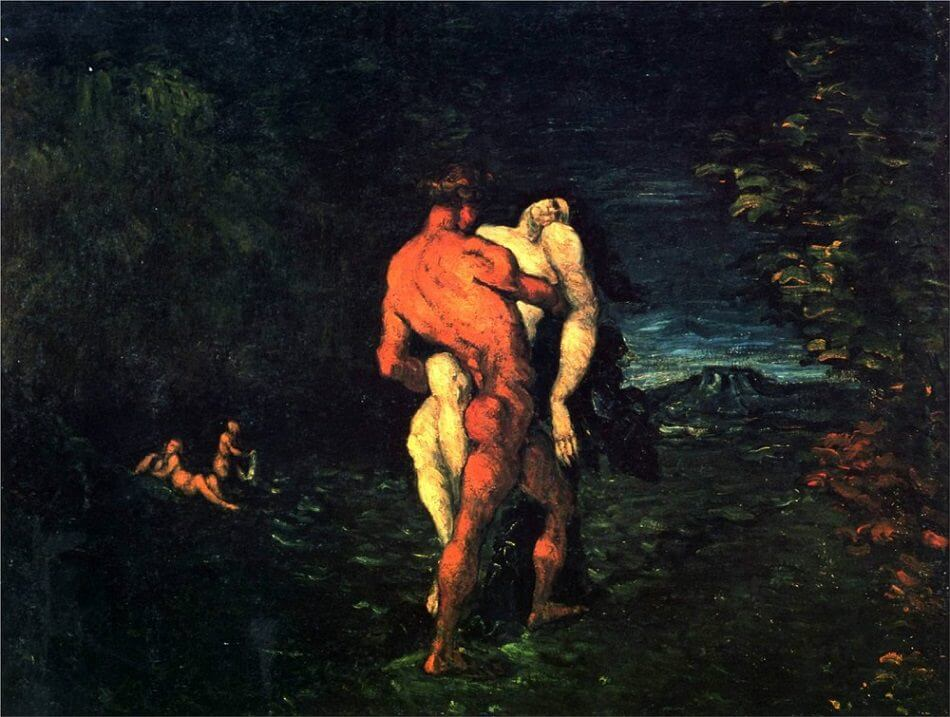 The Abduction, 1867 by Paul Cezanne