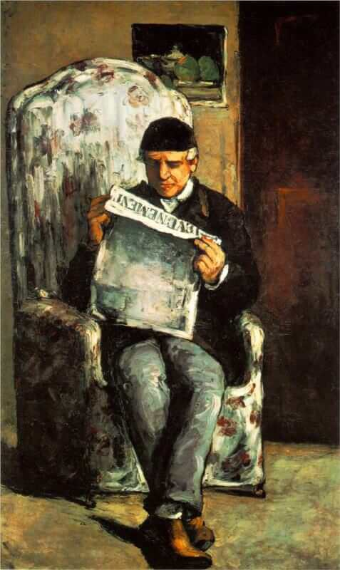 The Artist's Father Reading his Newspaper, 1866 - by Paul Cezanne