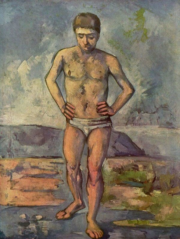 The Bather, 1885-87 by Paul Cezanne