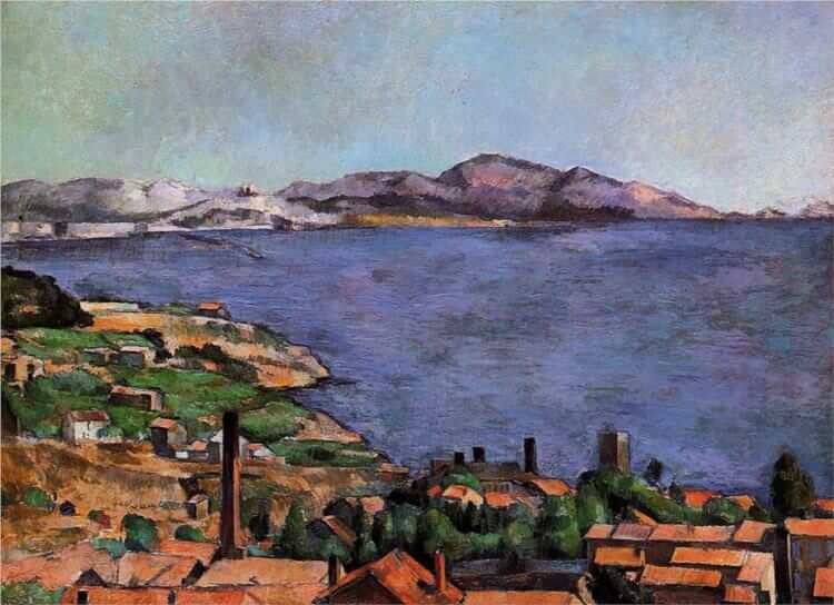 The Gulf of Marseilles Seen from L'Estaque, 1885 - by Paul Cezanne