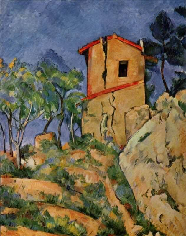 TThe House with the Cracked Walls, 1892 - by Paul Cezanne