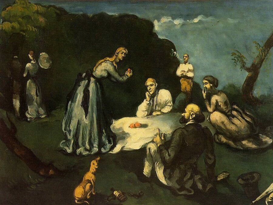 The Picnic, 1869 by Paul Cezanne