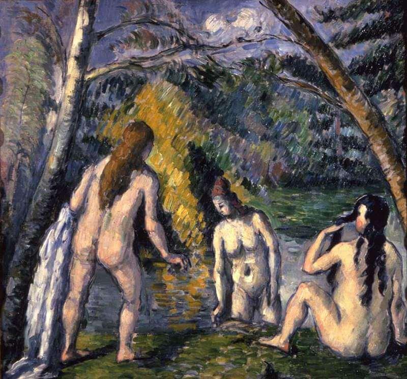 Renaissance painting three women nude