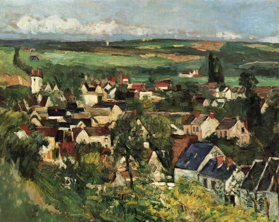 View of Auvers, 1874 by Paul Cezanne