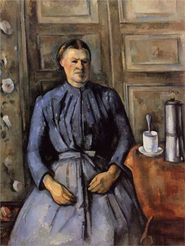 Woman with a Coffee Pot, 1895 - by Paul Cezanne