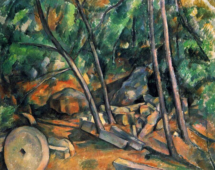 Woods with Millstone, 1894 by Paul Cezanne